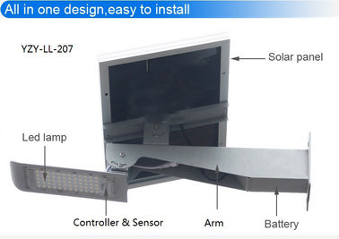 High Power Waterproof Street Light Using Solar Panel / Solar Led Street Lamps