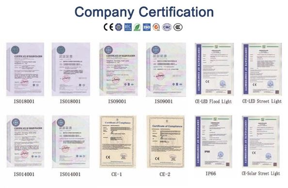 China Zhongshan Julang Electric Lighting Company Limited Certification